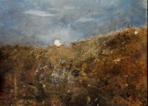 JAMES CARLISLE 1937-2019 Nocturne Moonrise Oil Painting- Northumberland