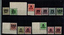 Briefmarken Altdeutschland Württemberg 171-183 **/*  nur 182 ist * teils Eckrand