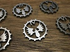 WarHammer Objective Markers - Blood Angels Cog - Stainless Steel - 30mm