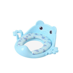 Kids Soft Plastic Toilet Seat Baby Toddler Training Potty Trainer Cover