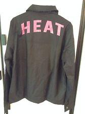 NWT Miami Heat NBA Ladies Black Opening Day Rain Windbreaker Jacket 47 Brand Lg