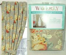 Waverly Sanctuary Rose Curtain Panel w Tieback 100% Cotton Red Floral Clay 52x84