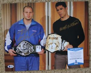 Fedor Emelianenko and Antonio Nogueira signed 11x14 Photo BAS D47113