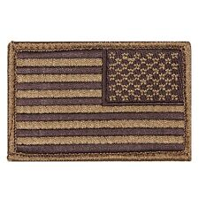 USA American Reverse Flag Tactical Army Badge Coyote Hook & Loop Patch Uniform