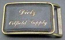 Dietz Oilfield Supply Oil & Gas Vintage Belt Buckle