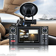 Dual 120° Wide-Angle Camera Rotated Lens Car DVR Vehicle Digital Video Recorder