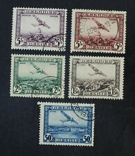 CKStamps: Belgium Stamps Collection Scott#C1-C5 Used