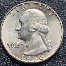USA 1960 D Washington Quarter 25c Top Erhaltung BU Silber #25128