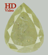Natural Loose Diamond Yellow Color Pear I1 Clarity 8.30 MM 1.44 Ct KDL5188