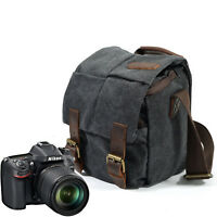 Retro Canvas DSLR Camera Bag Shoulder Messenger Bag F Canon Sony SLR Nikon DSLR