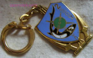 IN11423 - Keyring 2° E. S. D. R.a , Squadron Of Dredging, Mine Green