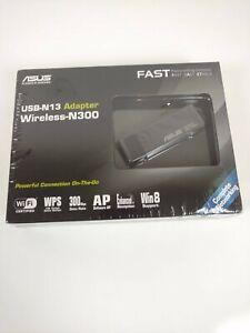 ASUS Wireless USB Adapter N300 USB-N13 New Sealed NEW wifi N300