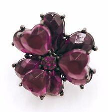 Antique Retro Vintage Love Heart Cloves Roses Flower Ring Ceramic