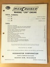 Mercruiser Stern Drive Parts Catalog Book Manual 1964, Marine 190 Engine