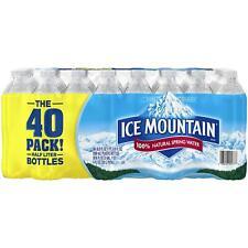 Ice Mountain Natural Spring Bottled Water, 16.9-oz, 40 Bottles (Brand New)