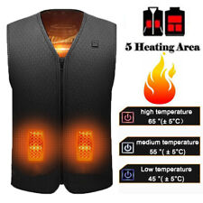 Electric Heated Vest Jacket USB Thermal Warm Up Heating Pad Body Warmer Clothes