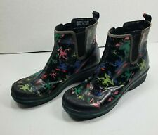 DANSKO VAIL Womens EU42 US11 Vegan Coated Canvas Ankle Boots Frog Print Outdoor