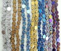 Titanium Hematite Gemstones oblate Loose Beads loose beads  15'' Strand