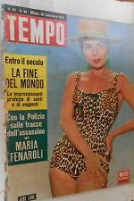 TEMPO 30 Settembre 1958 Abbe Lane Kassem Maresca Fenaroli Massine Banda Messina