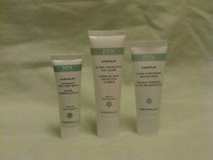 REN Evercalm Travel Trio - Day Cream, Rescue Mask & Overnight Recovery Balm NEW