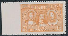 DOMINIKANISCHE REPUBLIK 1963 Patrioten Flugpostmarke 15 C orange postfr. ABART