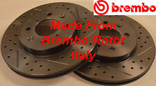 Fits 07-13 Honda Fit Drilled Slotted Rotors Harmonically Balanced Front Pair