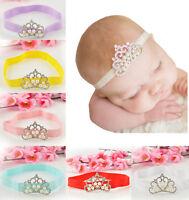 Hot Sale! Kids Princess Crown Infant Toddler Pearl Rhinestone Headband Hairband