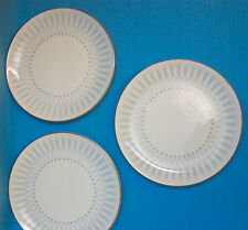 "Royal Doulton DEBUT England Bone China Bread Plates 6.25"" Lot of 3 Blue Gold"