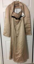 NWT David's Bridal Gown Strapless Dress Satin $150 Sz 4 Velvet Trim Bow W/ Wrap