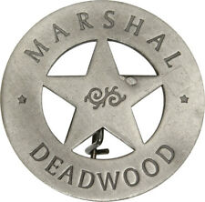 New Badges Of The Old West Marshal Deadwood Badge MI3007