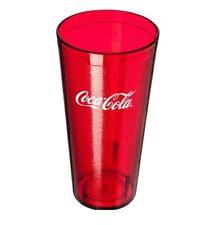 New (6) Coke Coca Cola Restaurant Clear Plastic Tumblers Cups 16 oz Carlisle
