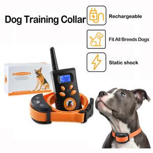 500M Remote Pet Dog Training Collar Dog Anti Barking Collar Shock Collar For Dog