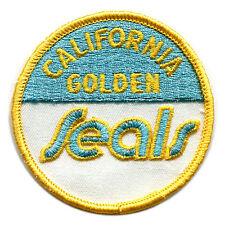"""1974-76 CALIFORNIA GOLDEN SEALS NHL HOCKEY VINTAGE  3"""" ROUND TEAM PATCH"""