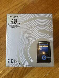 New In Box Creative ZEN V 4gb FACTORY SEALED