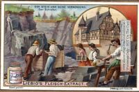 Slate Rock Quarry Mining Roofing Stone Mineral NICE c1903 Trade Ad Card