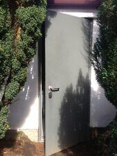 Steel Security Galvanised Door 890W x 2090H Left & Right Hand Hinge 12 pt Lock
