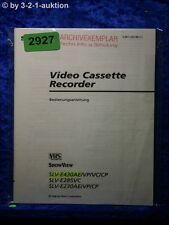 Sony Bedienungsanleitung SLV E430AE /VP /VC /CP /E285VC /E230AE (#2927)