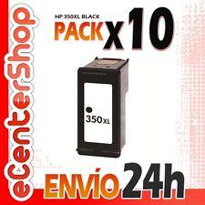 10 Cartuchos Tinta Negra / Negro HP 350XL Reman HP Deskjet D4260 24H