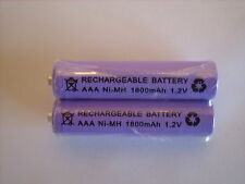 BT  / PHILIPS BABY MONITORS  2x 1.2V 1800 mAh AAA RECHARGEABLE BATTERIES