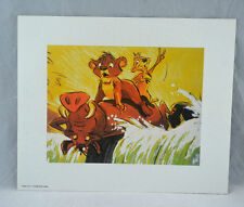 Walt Disney's THE LION KING Concept Art Lithographs Collection Portfolio, 6 pcs