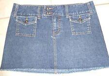 ROXY Jean Mini Skirt Denim Double Cargo Pockets Blue  Size 5