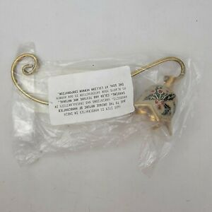 New Brass and Enamel Candle Snuffer 7 Inch Lillian Vernon In Packaging