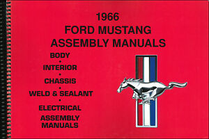 1966  Ford Mustang Assembly Manual set of 5 Books in 1 Volume