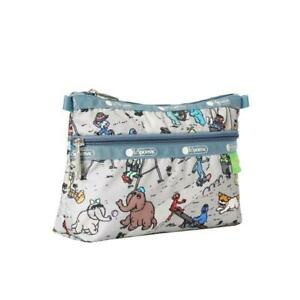 LeSportsac Sesame Cosmetic Clutch Make Up Bag in Sesame Park NWT