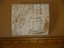 Napoleonic era letter to Geneva - date stamped 1816 - red franked mark..