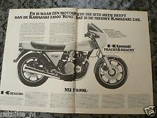 A156- KAWASAKI Z1000 Z1R 1978 POSTER ADVERTISEMENT ADD MOTORCYCLE