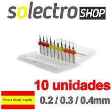 10x Mini MICRO BROCAS Boquilla nozzle impresora Reprap 3D Drill Bit I0060