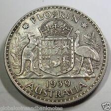 Australian 1939 George VI Florin -aVF
