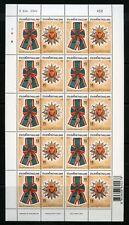 Thailand Scott#1845/46 Decorations Sheets Of 20(10 Cpl Sets) Mint Nh