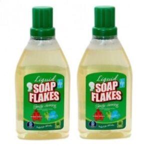 2 x Dri-Pak Liquid Soap Flakes 750ml Pure Soap with No Added Perfumes Fragrances